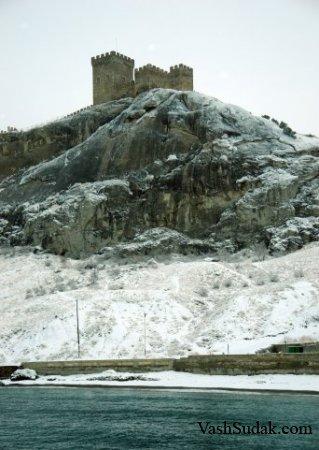 Судак в снегу. Фото