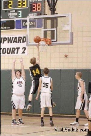 Фотожаба: Баскетболист 80 lvl
