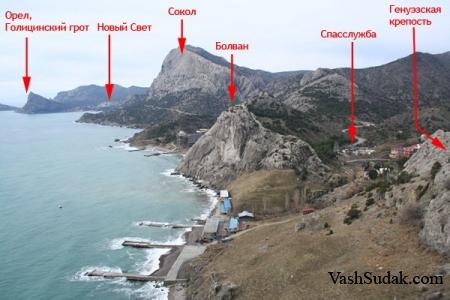 Происхождение гор Судака и Крыма.
