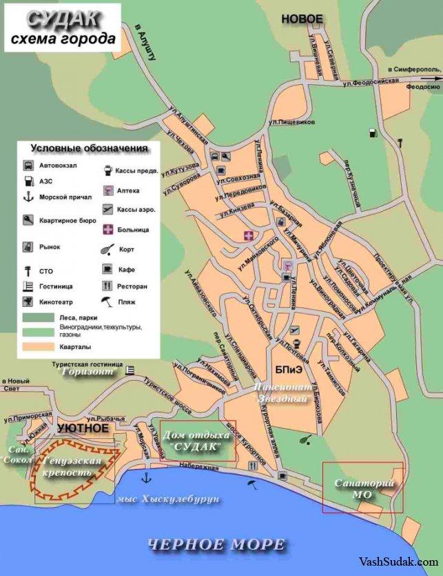 Исторический район города Судак. Крым