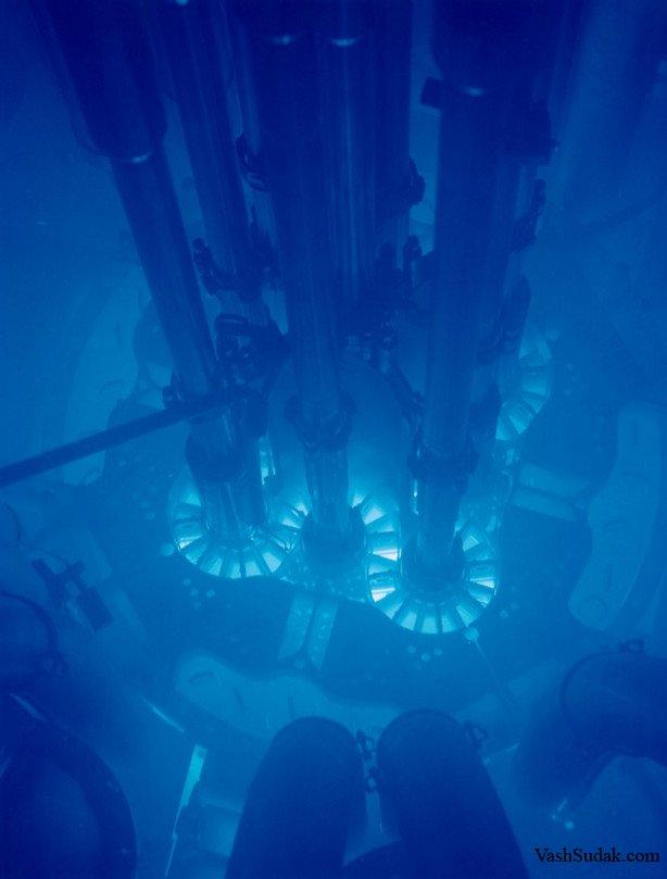 Свечение Черенкова на АЭС в Айдахо.